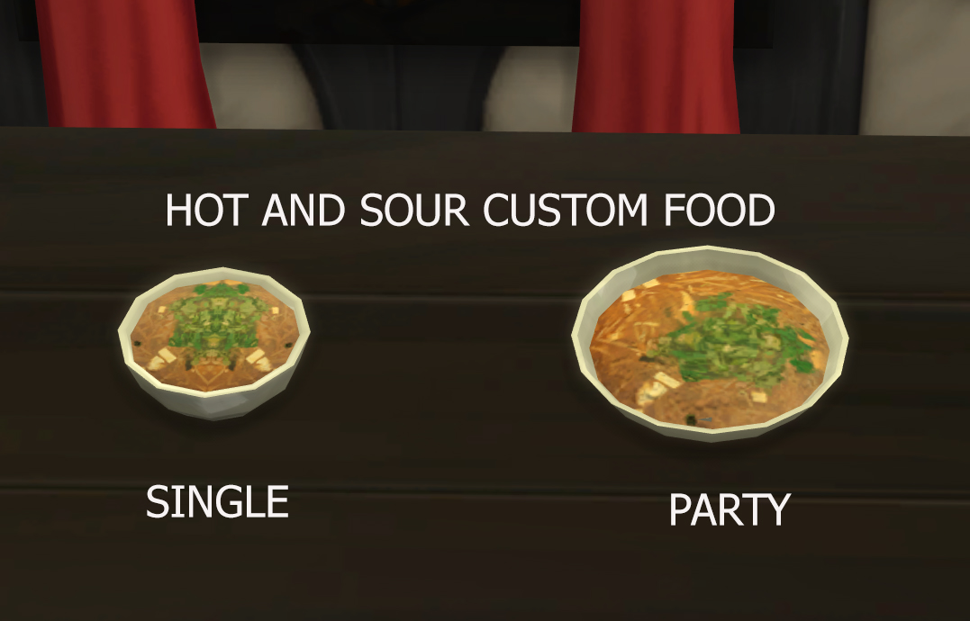 Mod the sims hot and sour soup custom food update 9th for Customiser cuisine