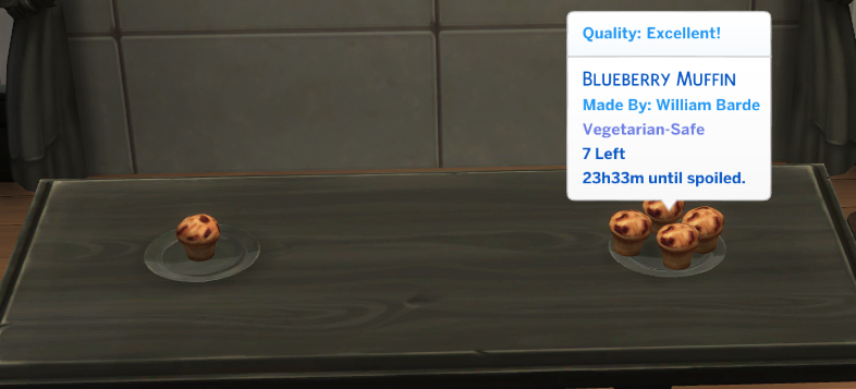 Mod The Sims - Blueberry Delights - Cheesecake and Muffin (Updated