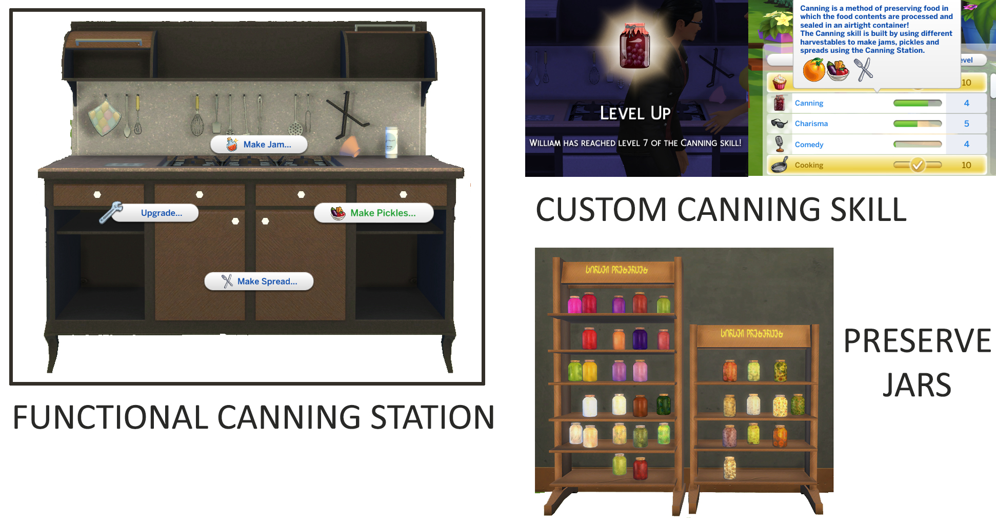 Mod The Sims - Functional Canning Station and Custom Canning