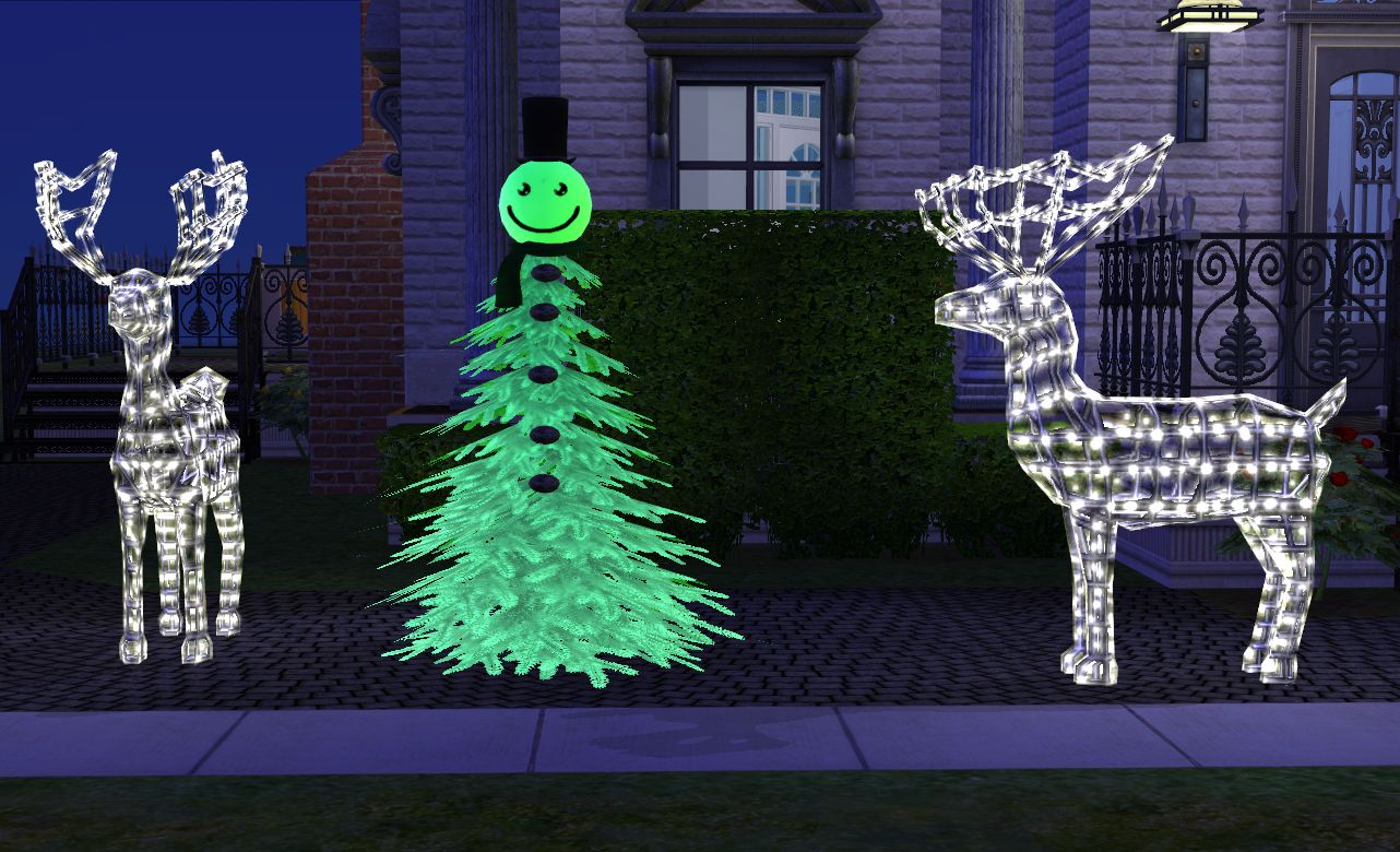 mod the sims snowman christmas tree. Black Bedroom Furniture Sets. Home Design Ideas