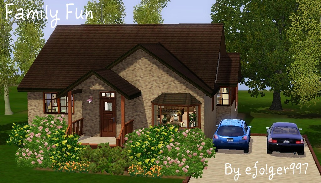 Mod the sims family fun small family home for Tiny house family of 6