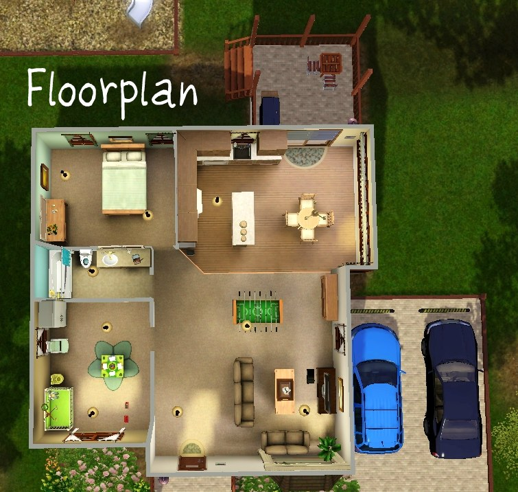Mod the sims family fun small family home for Small family home plans