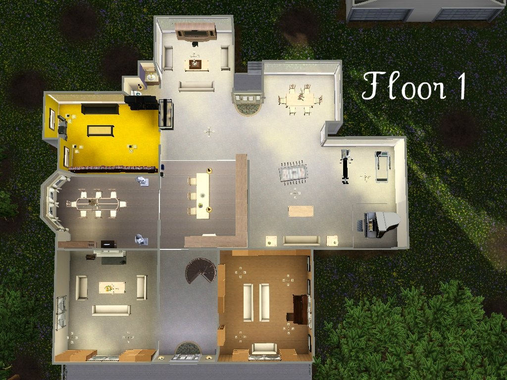 Cullens house floor plan the image kid for Edward cullen house