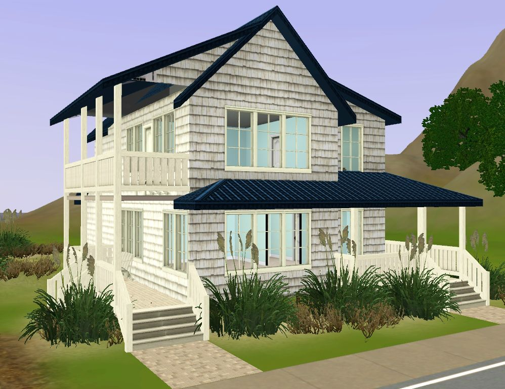 Mod the sims beach bungalow for Beach house 3 free download