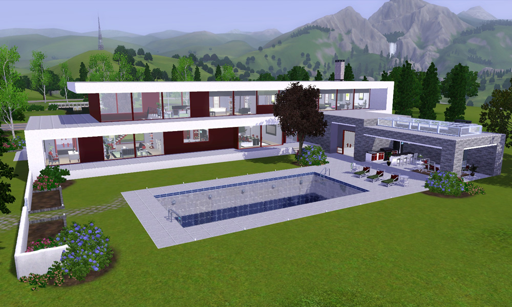 Mod The Sims - The Hilltop House | a modern villa