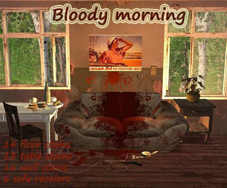mod the sims bloody morning set of recolors. Black Bedroom Furniture Sets. Home Design Ideas