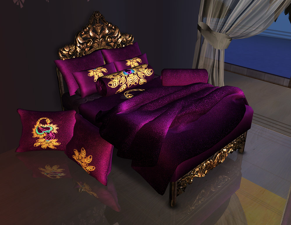 Set U201cPeacocku201d Includes 1. Maxis Bedding Recolor 2. Bed Blanket Recolors. I  Recolored 2 Meshes: MNV And Jonesi. Recolors Can Be Used Together  Slave Meshes