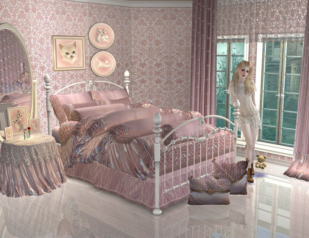 Mod the sims project maiden 39 s bedroom part 1 for 3 6 bed