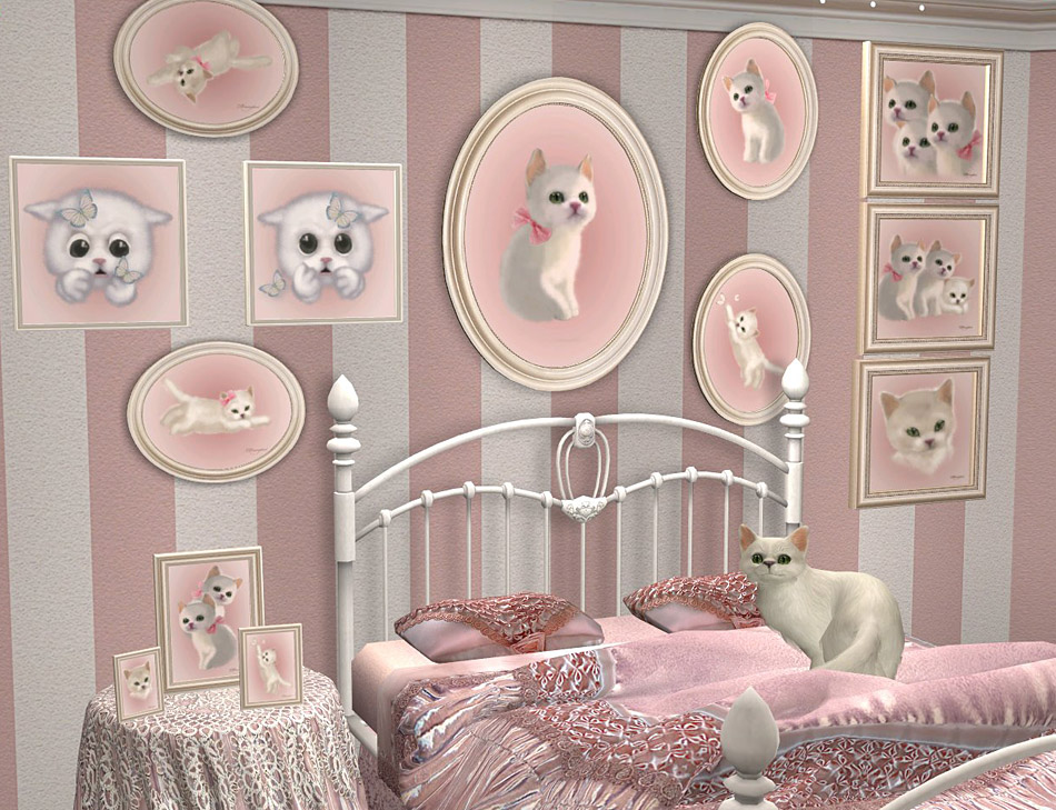 The Project Maiden S Bedroom Continues Now I Made Many Paintings Recolors There Are Oval Pictures Square And Table