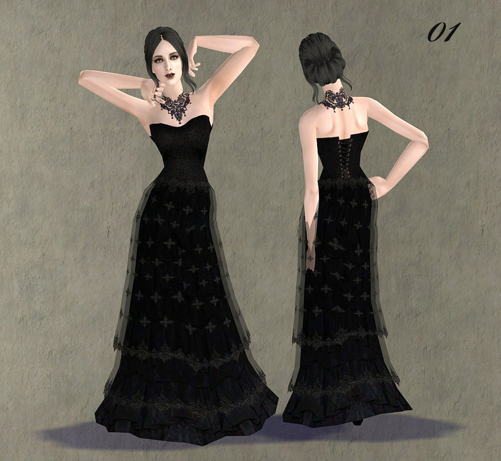 Mod The Sims - Fashion story from Heather. Charm of Gothic ...