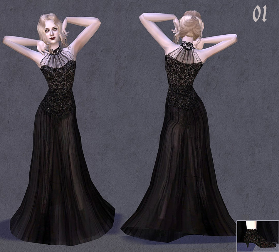Mod The Sims - Fashion story from Heather. Charm of Gothic . 9 ...