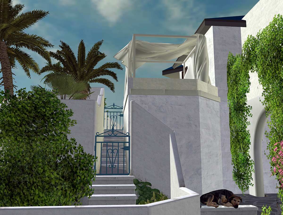 mod the sims project sims santorini part 7 set