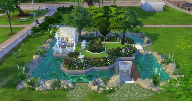 Mod the sims underwater house for 3 4 house