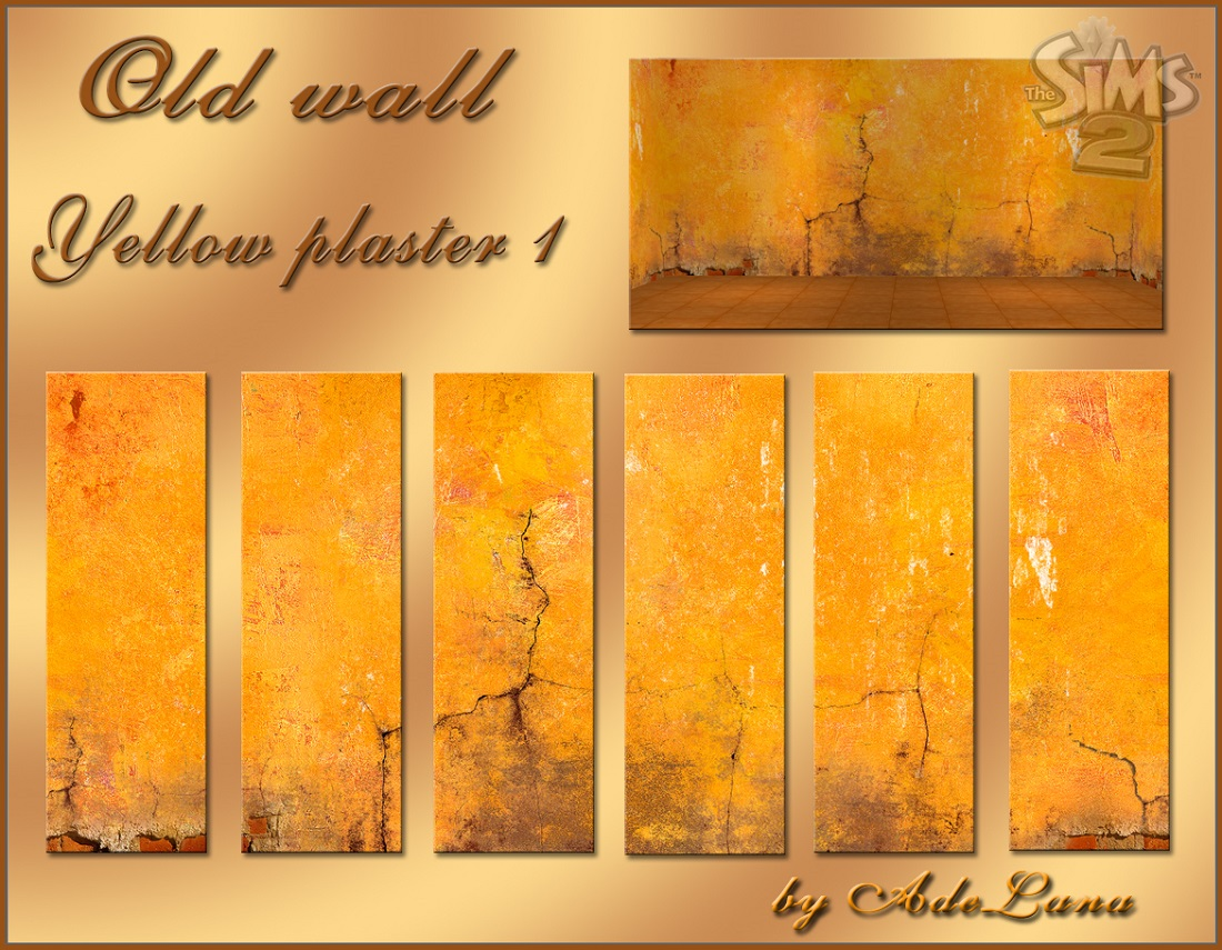 Mod The Sims - Old Wall Collection 1 - plaster [TS2] -
