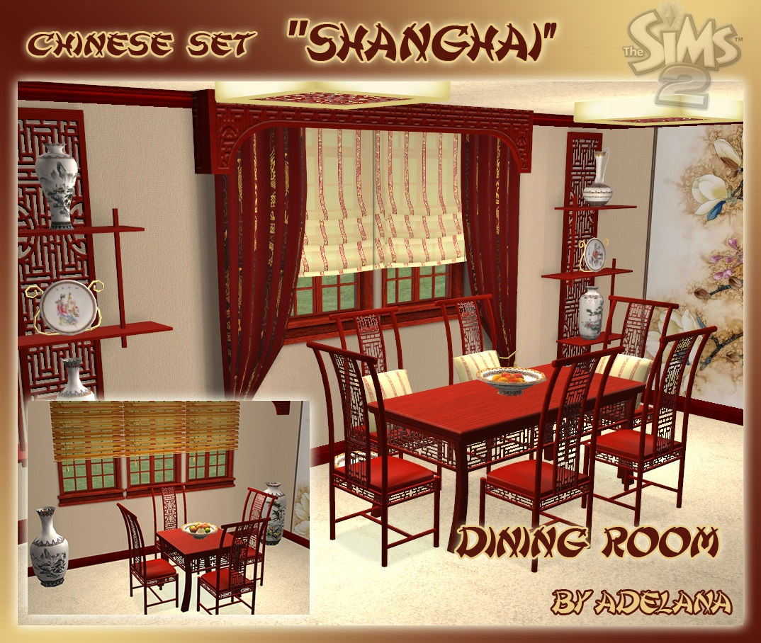 Mod The Sims - Chinese set Shanghai - Dining