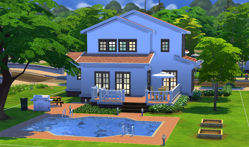 Mod the sims simple 5 for Sims 4 simple modern house