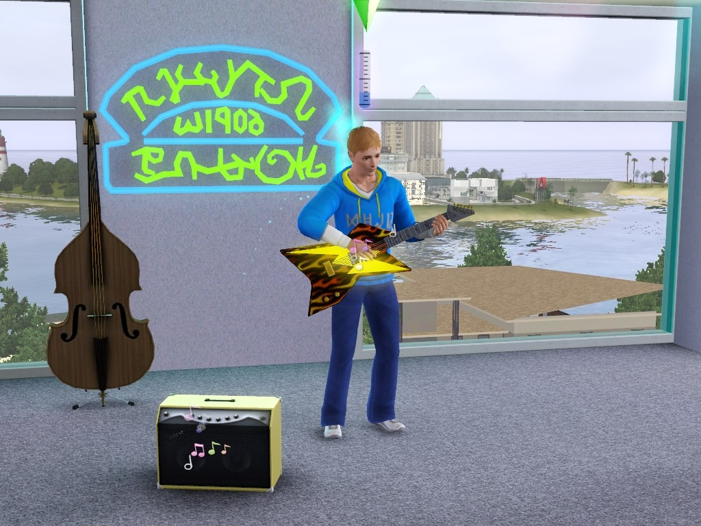 Mod The Sims - 70s, 80s, & 90s Stuff Electric Guitar MOD