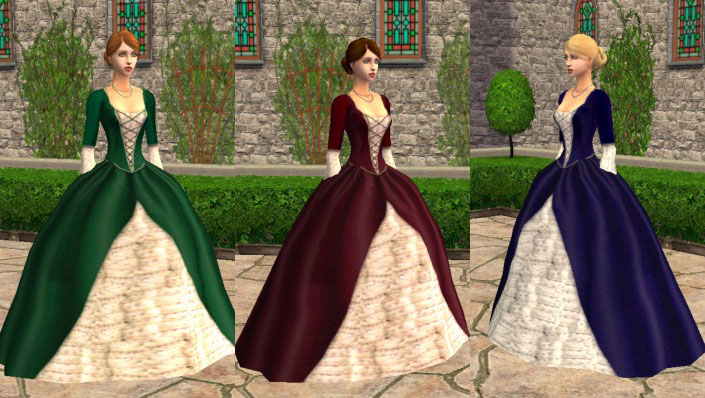 mod the sims   12 medieval victorian dresses