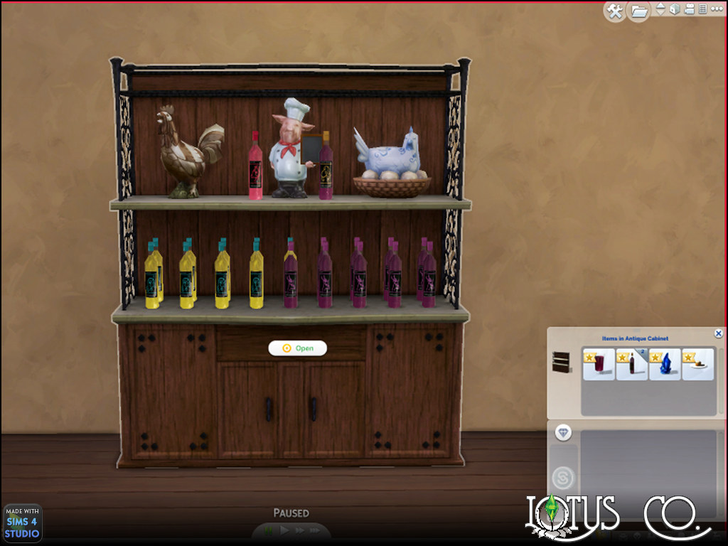 Mod The Sims - Antique Cabinet (Sims 3 Conversion)