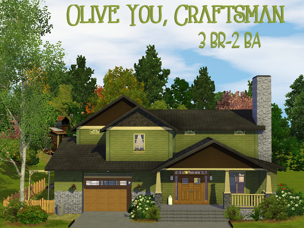 Mod The Sims - Olive You, Craftsman (no CC)
