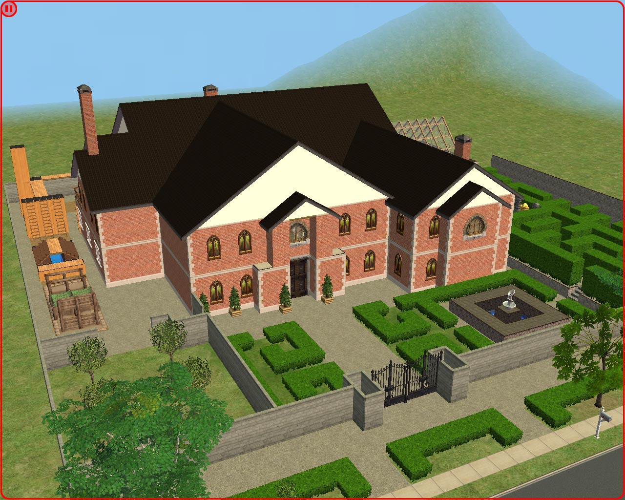 Mod the sims lara croft 39 s manor from tomb raider for Classic house sims 3