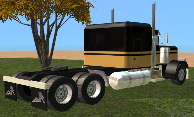 mod the sims - smokey and the bandit semi (bandit 2)