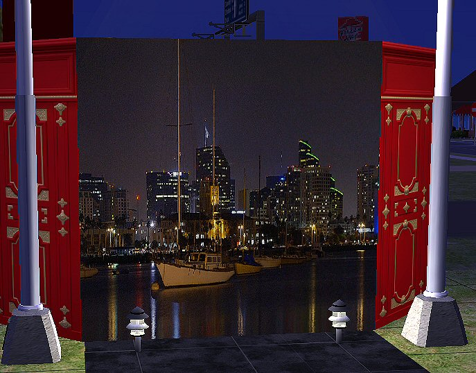 Mod the sims nighttime cityscape murals for Cityscape mural