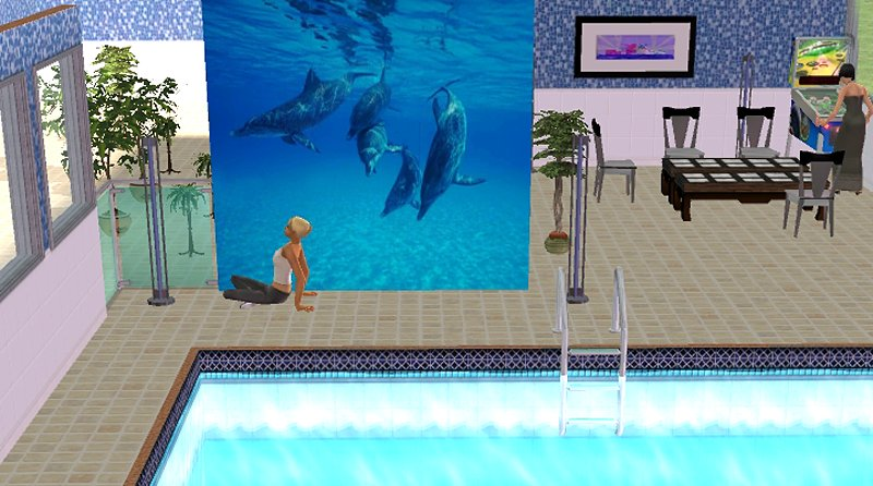 Dolphin Carpet And Tile >> Mod The Sims - Dolphin Mural
