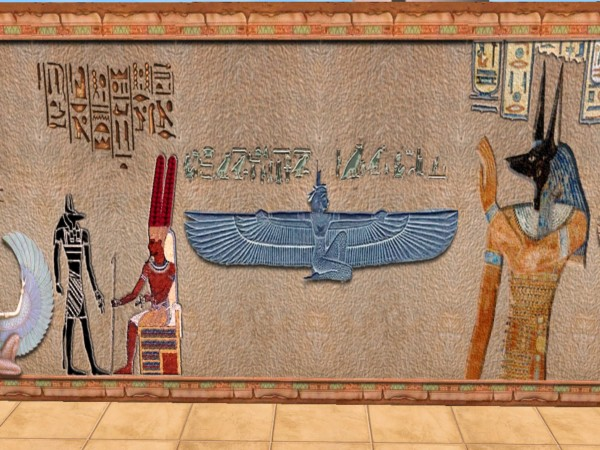 Mod The Sims Ancient Egyptian Mystic Wall Set 37