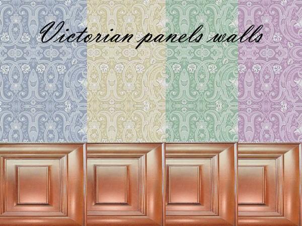 Victorian Walls mod the sims - romantic victorian set: walls & floors