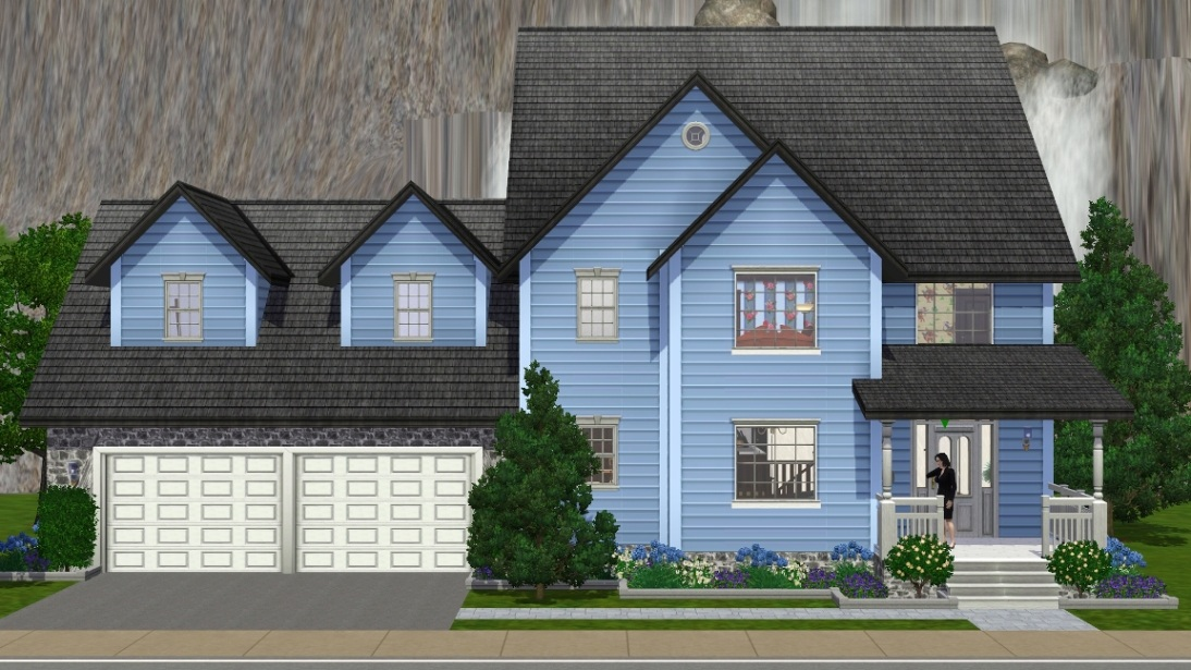 mod the sims - suburban family home - no cc, sp, or store content
