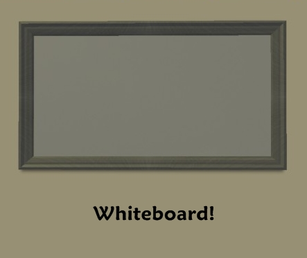 Decorative White Boards mod the sims - educational whiteboards