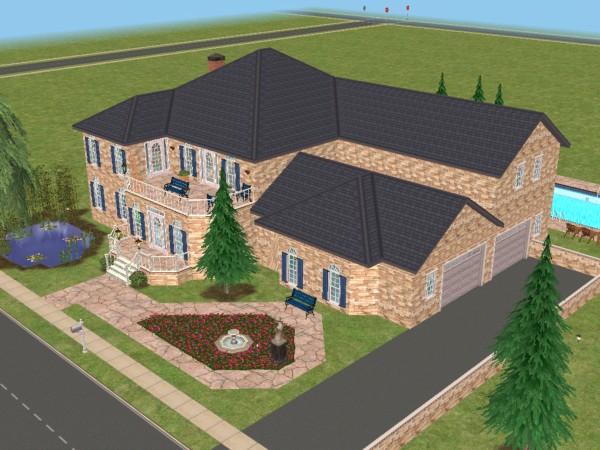 Mod The Sims Sheffield Manor No Cc True Side Garage