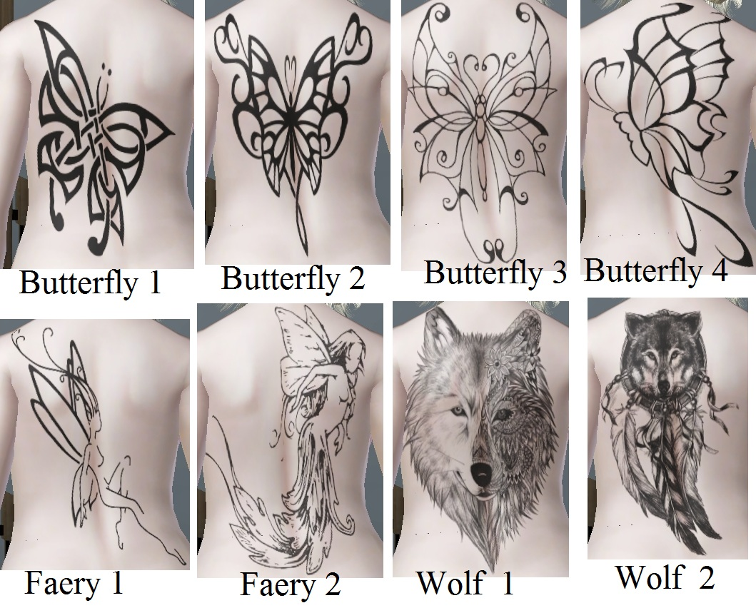 Mod The Sims - Assorted Tattoos Bundle