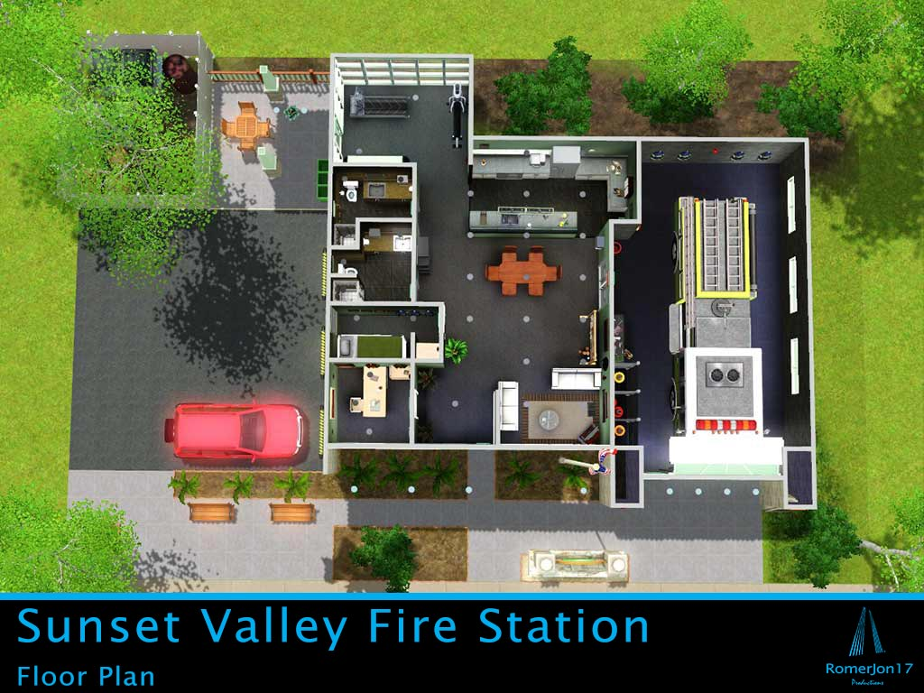 Mod The Sims - Sunset Valley Fire Station