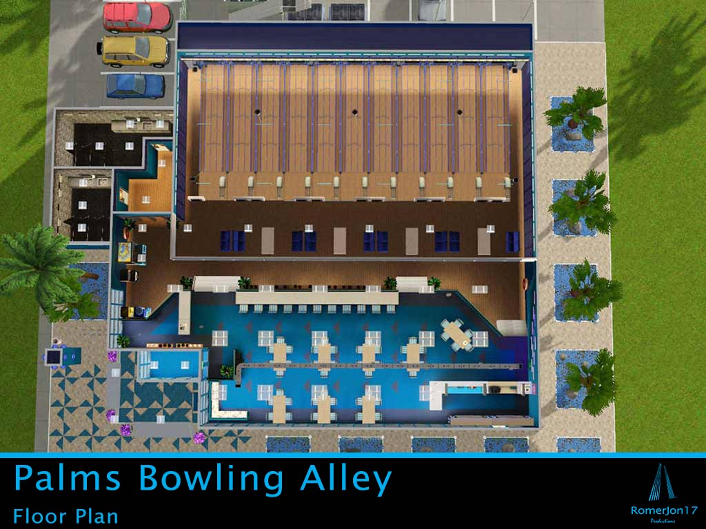 bowling alley floor plans mod the sims palms bowling alley