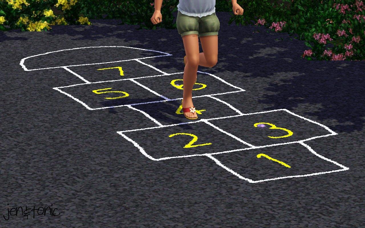 Mod The Sims Chalk Hopscotch Court Default