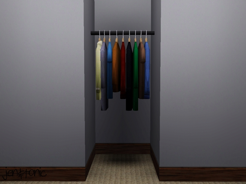 Mod The Sims One Tile Clothes Rack