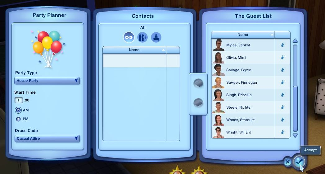 Mod The Sims - Throw Bigger Parties whenever you want!