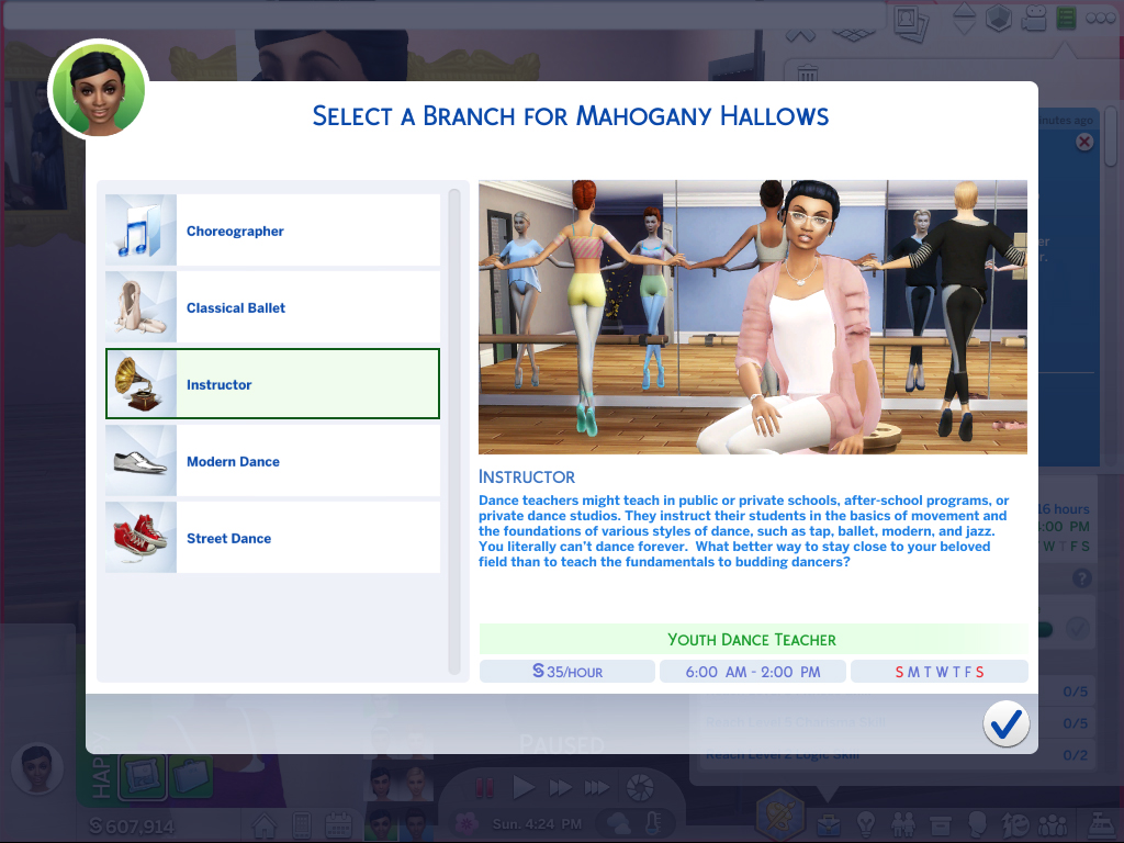 Mod The Sims - Ultimate Dancer Career **TESTED WITH 12/20/18