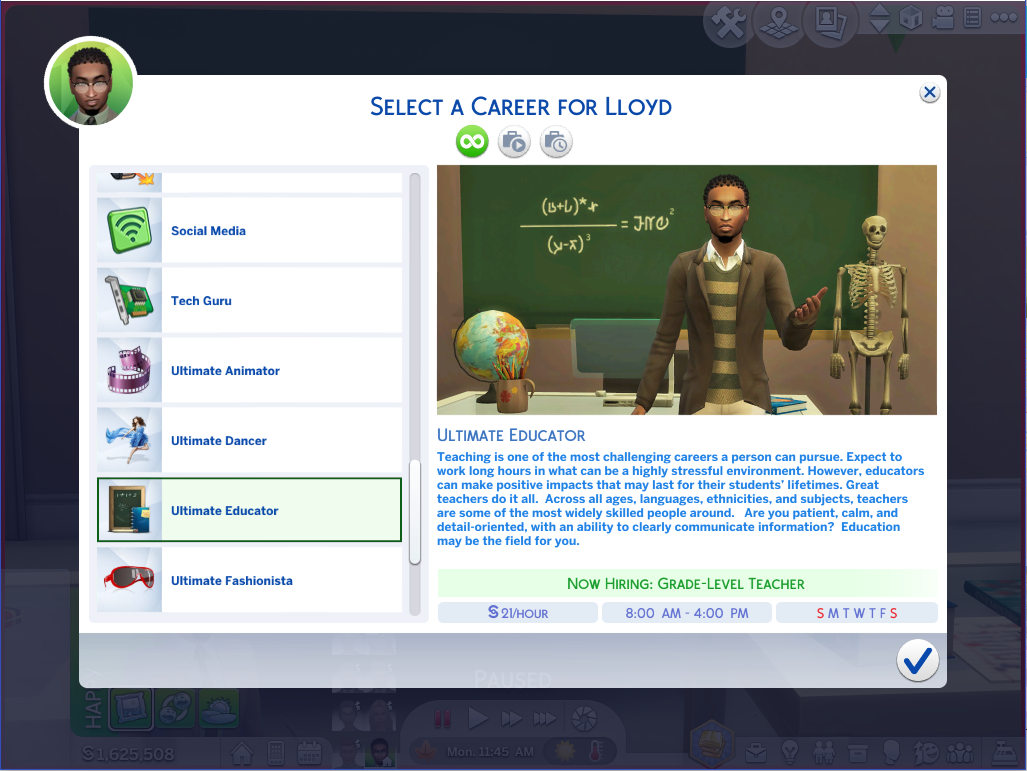 Mod The Sims - Ultimate Educator Career **TESTED WITH 12/20/18 PATCH**