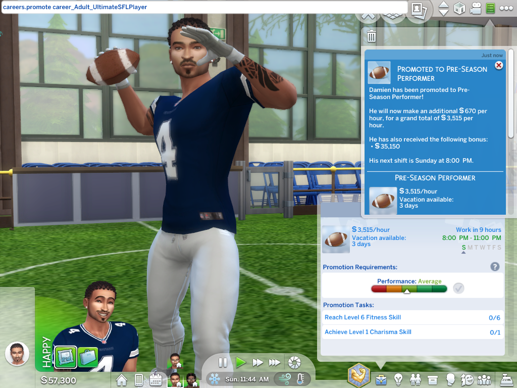 Mod The Sims - Ultimate SFL Player Career