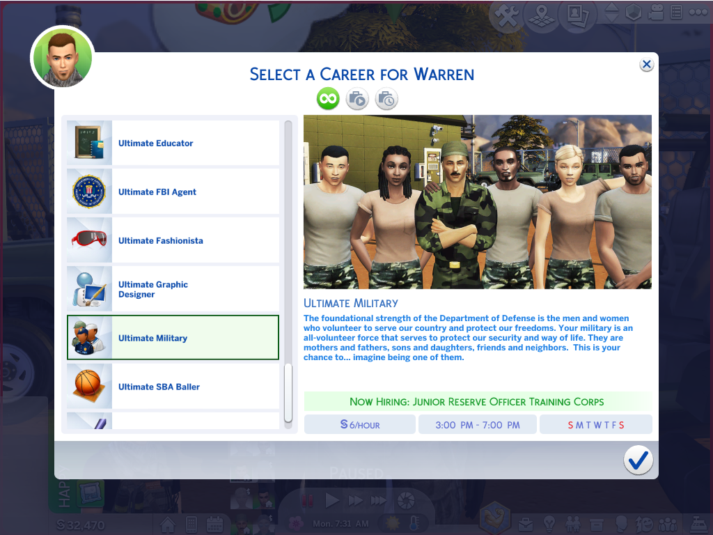Mod The Sims - Ultimate Military Career