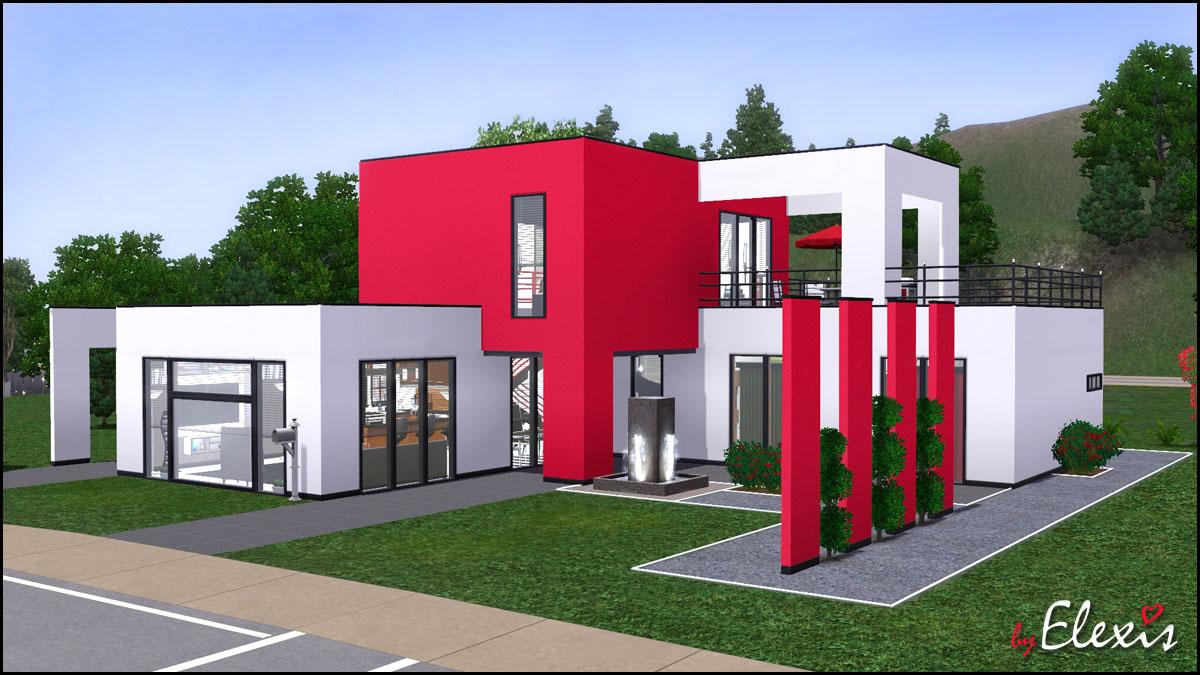 447848 on Sims 2 Modern Houses