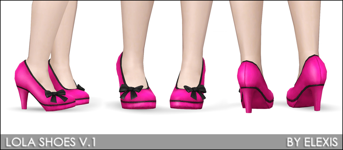 Mod The Sims Quot Lola Quot Sexy 3d Heels For Females 2 Versions