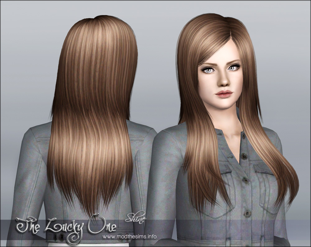 Mod The Sims Quot The Lucky One Quot Hair Set For Females