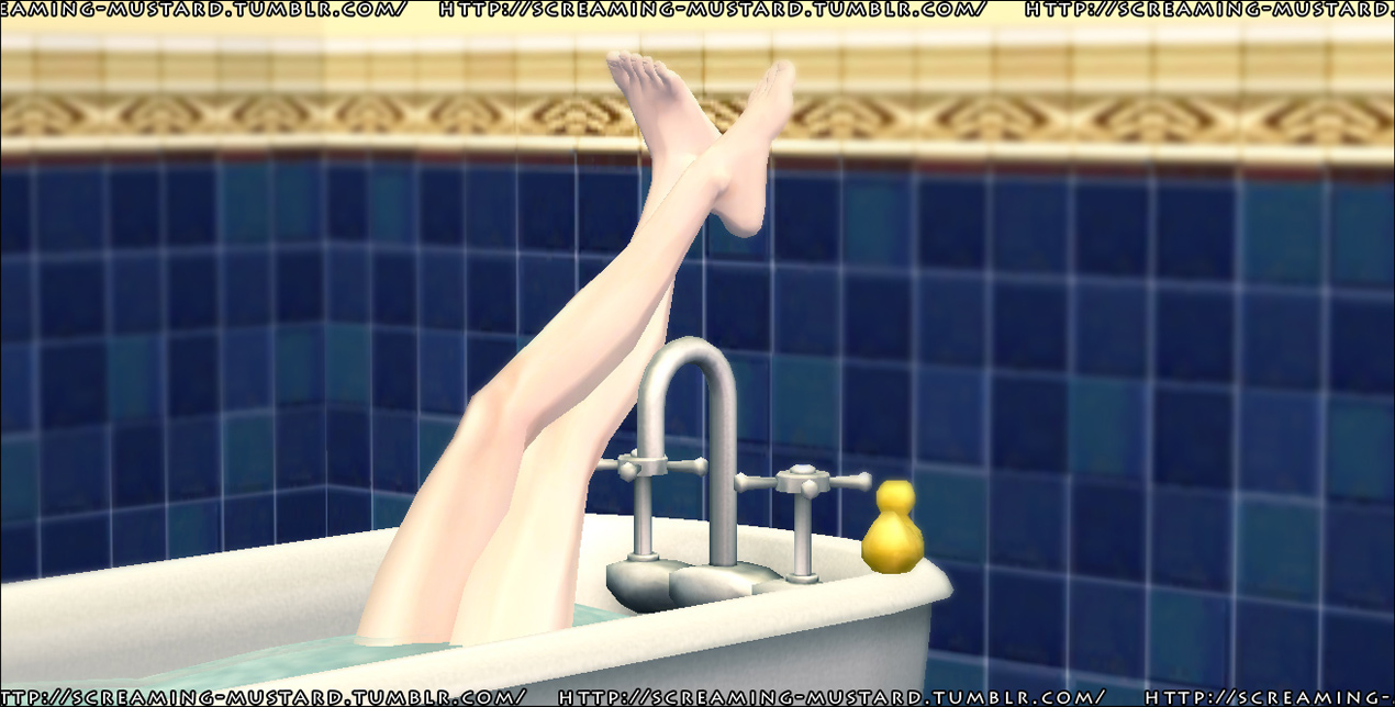 Mod The Sims - [ Squeaky Clean ] Bathtub Pose Pack