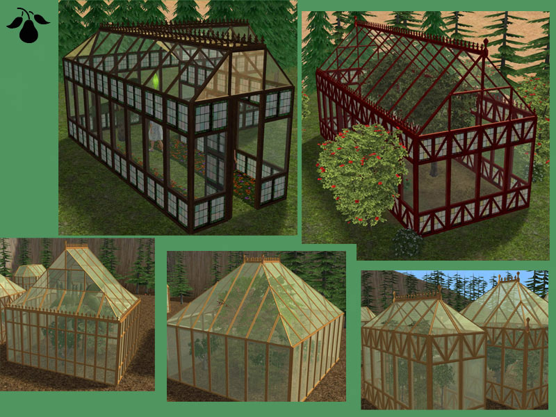 Mod the sims victorian greenhouse set updated 3 for Build a victorian greenhouse