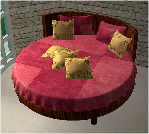Mod The Sims Rounded Bed Berlino Recolor