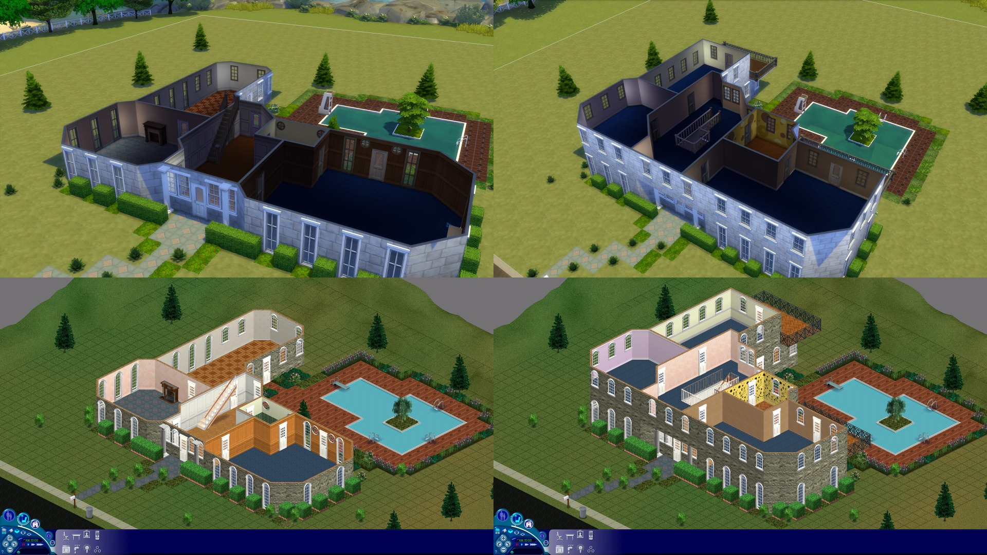 Mod The Sims - The Sims 1 Mansion (2 Sim Lane) for The Sims 4
